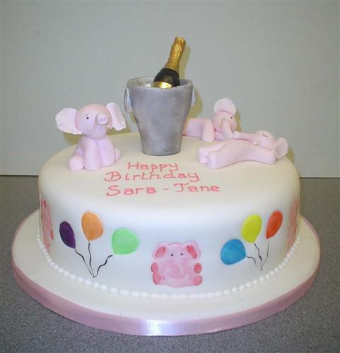 pink-elephants-with-champange-and-balloons