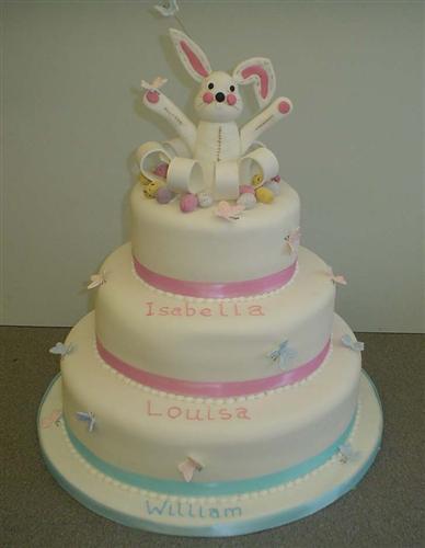 triple-decker-christening-cake