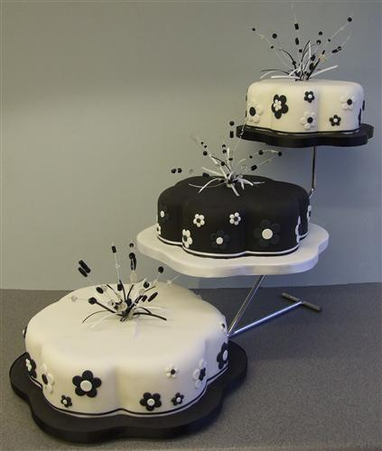 3-tier-black-and-white-with-matching-flowers-and-beaded-wires
